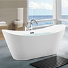 Flare 1700 x 800mm Modern Double Ended Freestanding Bath profile small image view 1