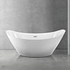 Flare 1720 x 760mm Modern Double Ended Freestanding Bath profile small image view 1