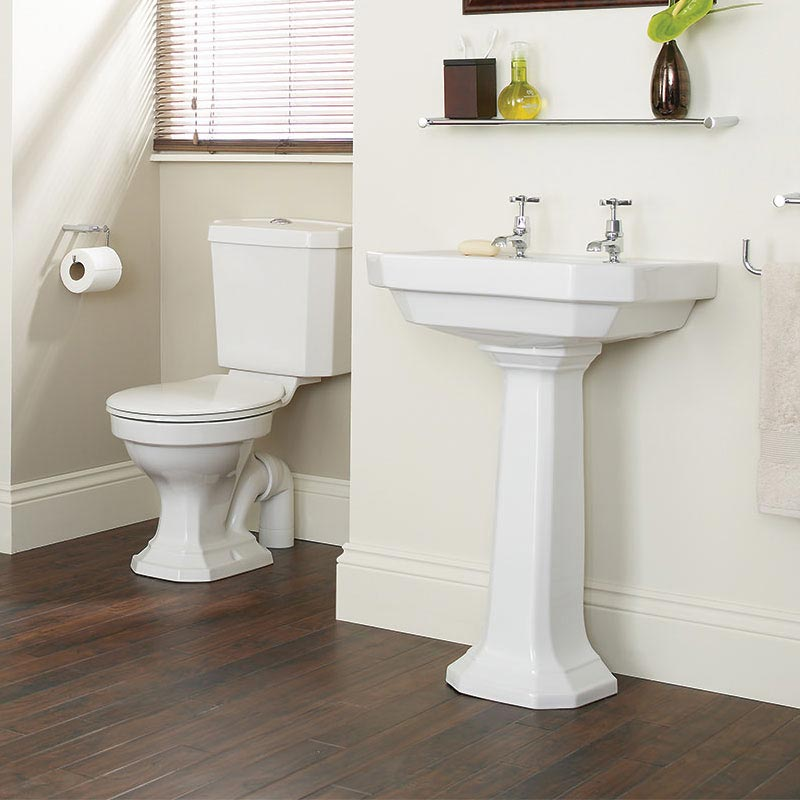 Heritage Granley Deco 4-Piece Traditional Bathroom Suite Large Image
