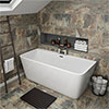 Orion 1500 x 750mm Small Back To Wall Modern Square Bath profile small image view 1