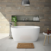 Valencia 1600 luxury modern square double ended for Small baths 1300