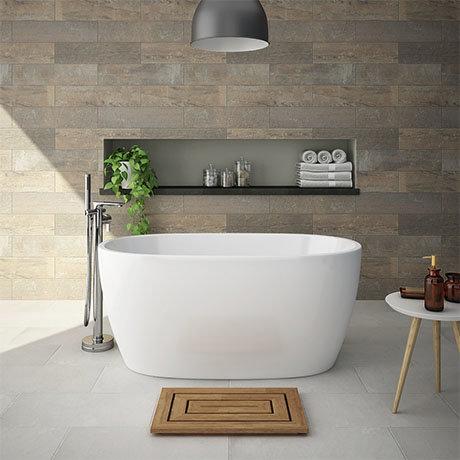 snowden 1300 small modern freestanding bath | victorian plumbing uk