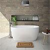 Snowden 1300 Small Modern Freestanding Bath profile small image view 1