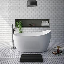 Turin 1370 Small Modern Slipper Free Standing Bath Medium Image