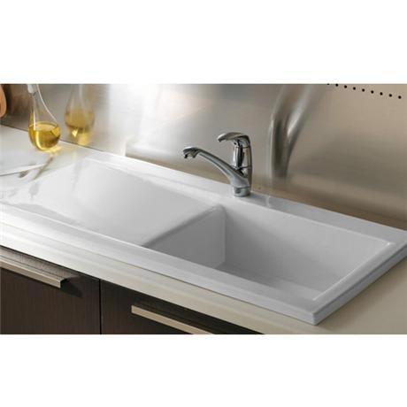 Rak Gourmet Dream Sink 2 With Waste Overflow Single Bowl White