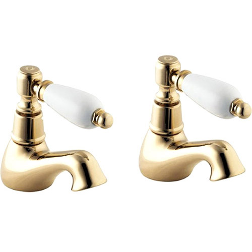 Deva Georgian Basin Taps - Gold Large Image
