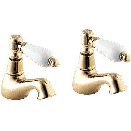 Deva Georgian Bath Taps - Gold Large Image