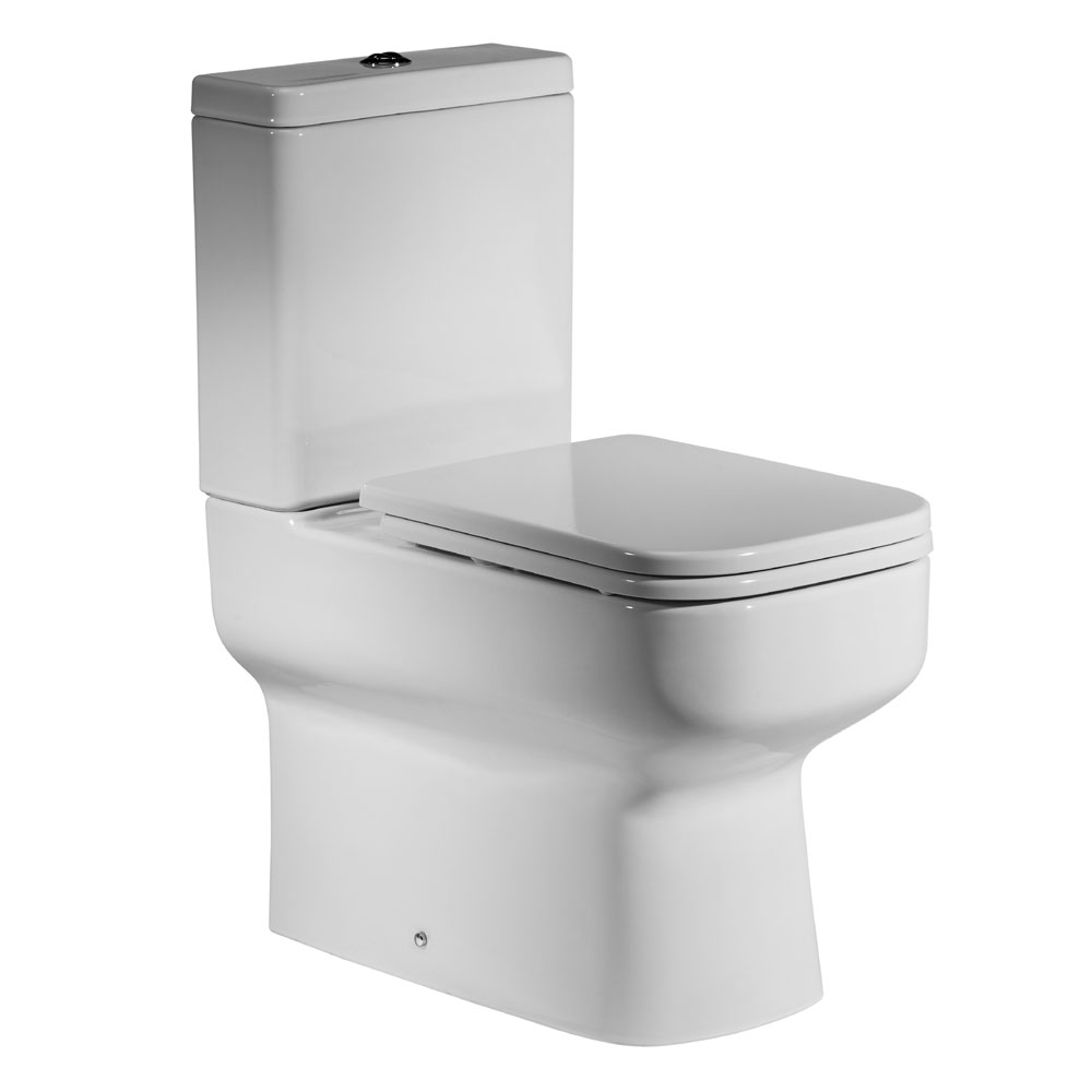 Roper Rhodes Geo Close Coupled WC, Cistern & Soft Close Seat Large Image