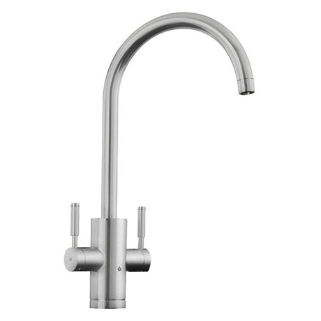 Rangemaster Geo Trend 4-in-1 Instant Boiling Hot Water Tap - Brushed Finish
