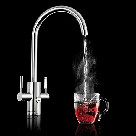 Rangemaster Geo Trend 4-in-1 Instant Boiling Hot Water Tap - Chrome