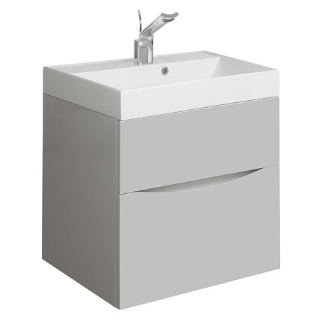 Bauhaus Glide II Vanity Unit and Basin - Storm Grey