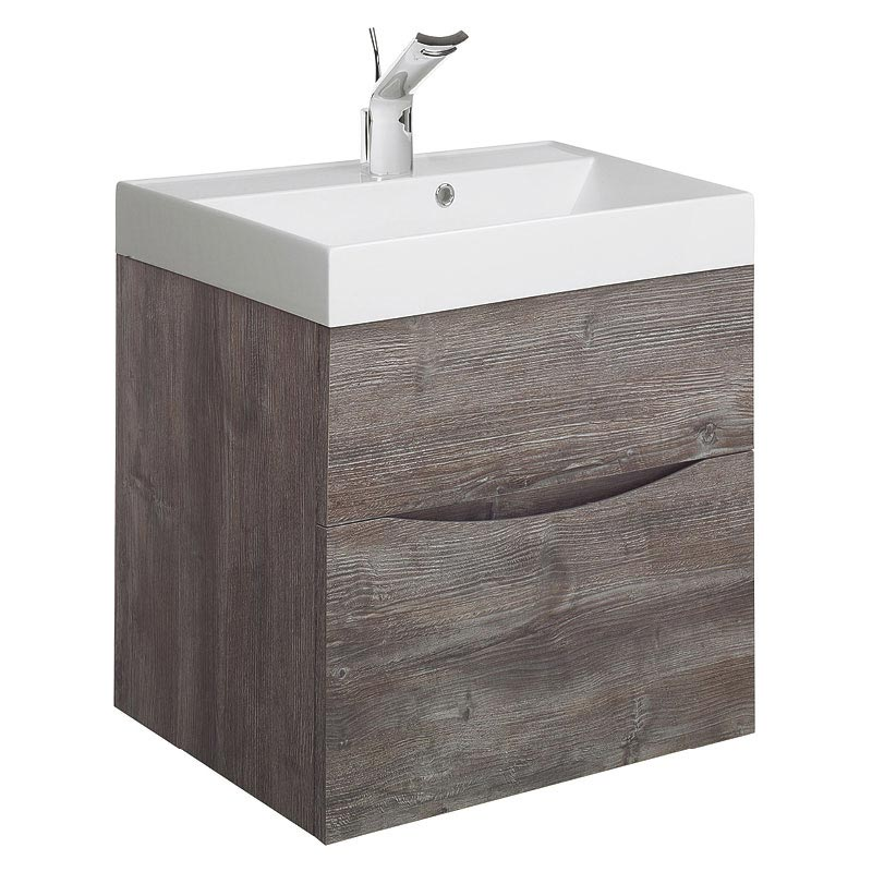 Bauhaus Glide II Vanity Unit and Basin - Driftwood profile large image view 1