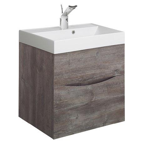Bauhaus Glide II Vanity Unit and Basin - Driftwood