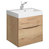 Crosswater Glide II Vanity Unit and Basin - Windsor Oak profile small image view 1