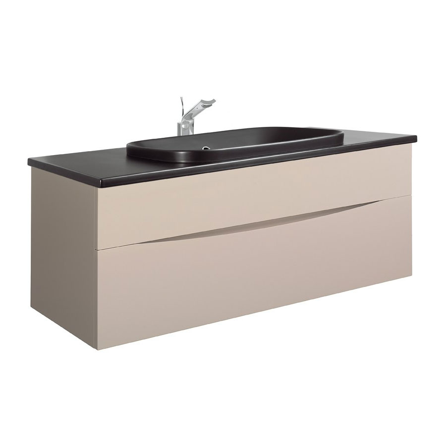 Bauhaus - Glide II 100 Unit with Plus+Ton Ceramic Worktop & Black Basin - Calico profile large image view 1