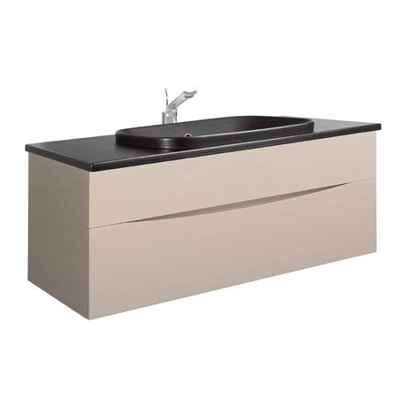 Bauhaus - Glide II 100 Unit with Plus+Ton Ceramic Worktop & Black Basin - Calico