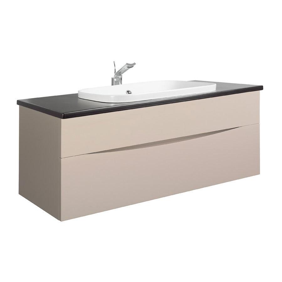 Bauhaus - Glide II 100 Unit with Plus+Ton Ceramic Worktop & White Basin - Calico profile large image view 1