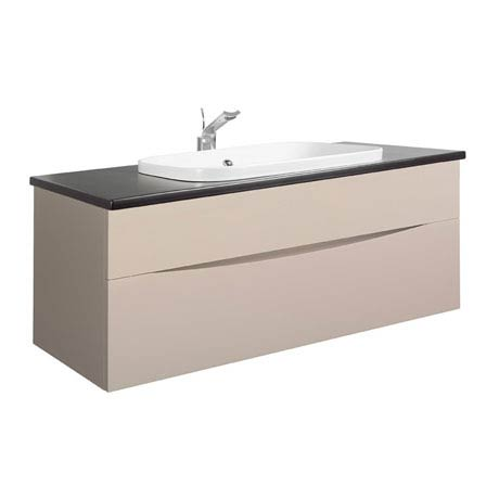 Bauhaus - Glide II 100 Unit with Plus+Ton Ceramic Worktop & White Basin - Calico