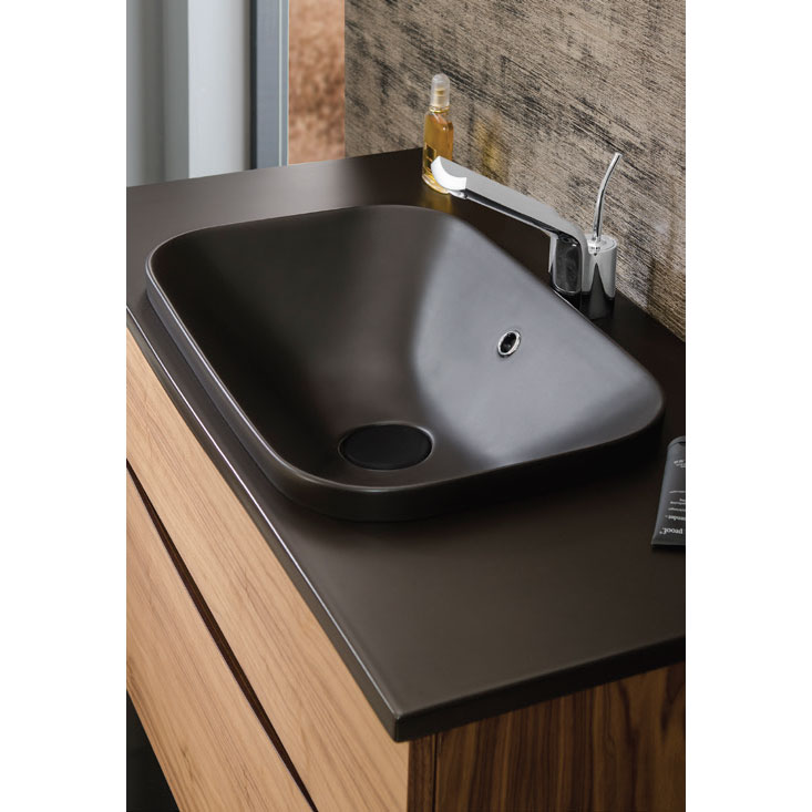 Bauhaus - Glide II 100 Unit with Plus+Ton Ceramic Worktop & Black Basin - Calico profile large image view 3