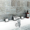 Glacier Waterfall Chrome Deck Mounted (3TH) Bath Filler Tap profile small image view 1
