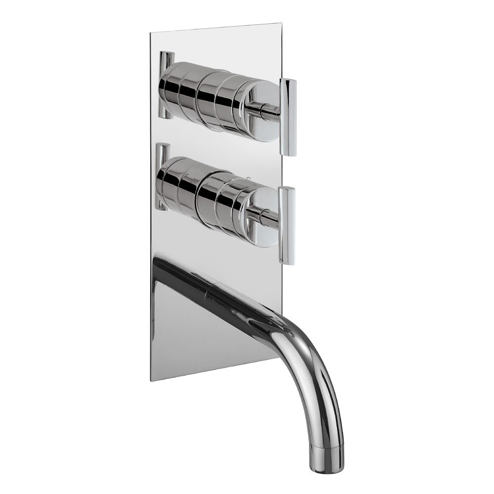 Crosswater - Glide Thermostatic Shower Valve with Bath Spout and Diverter - GL1600RC profile large image view 1