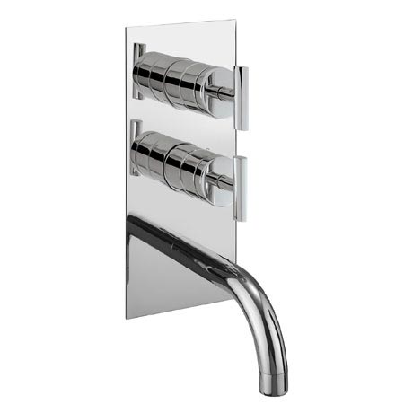 Crosswater - Glide Thermostatic Shower Valve with Bath Spout and Diverter - GL1600RC