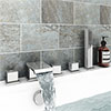 Glacier Waterfall Chrome Deck Mounted (5TH) Bath Shower Mixer Tap Inc. Shower Kit profile small image view 1