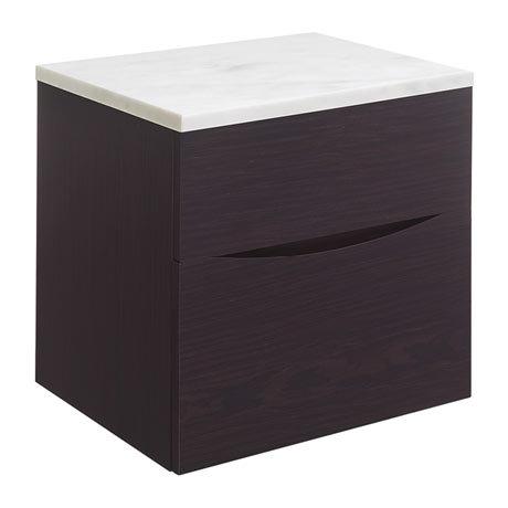 Bauhaus Glide II Vanity Unit + Marble Worktop - Wenge