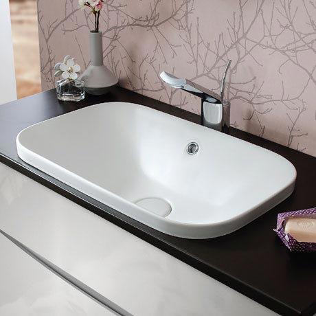 Bauhaus Plus+Ton Ceramic Inset Basin - Matt White