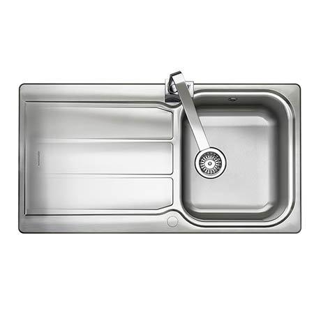 Rangemaster Glendale 1.0 Bowl Stainless Steel Kitchen Sink