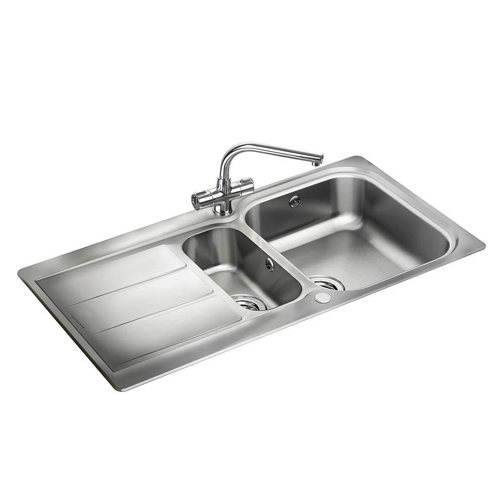 Rangemaster Glendale 1.5 Bowl Stainless Steel Kitchen Sink