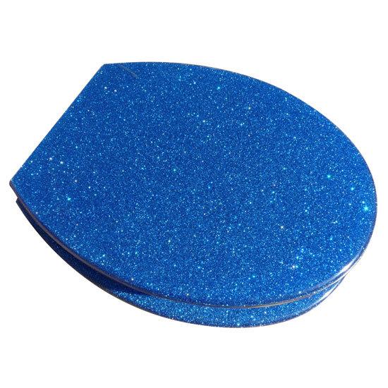 Euroshowers Blue Glitter Toilet Seat 81960 At