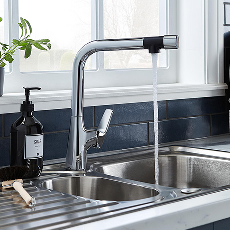 Bristan Gallery Pure Sink Mixer Kitchen Tap With Filter - GLL-PURESNK-C