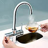 Bristan Gallery Rapid 3 in 1 Boiling Water Kitchen Tap Chrome - GLL-RAPSNK3-C profile small image view 1