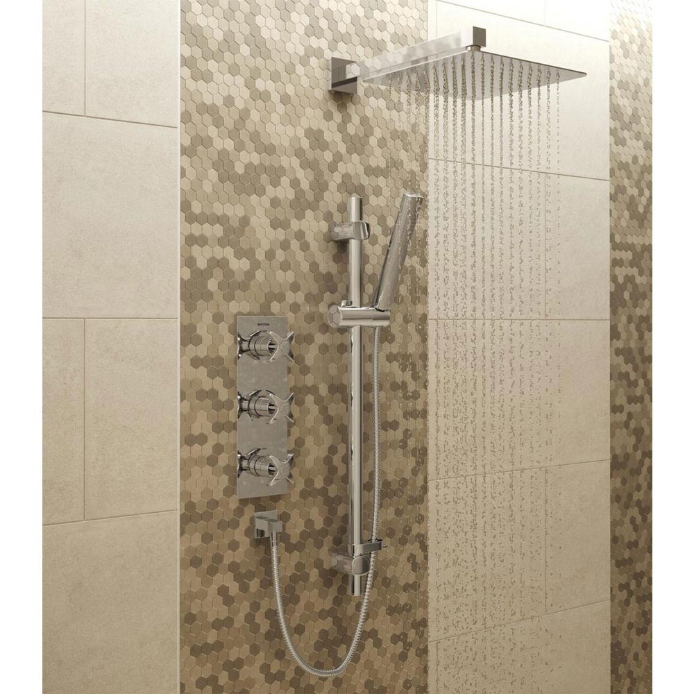 Bristan Glorious Fixed Head and Adjustable Riser Shower Pack Large Image