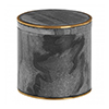 Turin Grey Marble Brass Effect Storage Pot profile small image view 1
