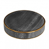 Turin Grey Marble Brass Effect Soap Dish profile small image view 1