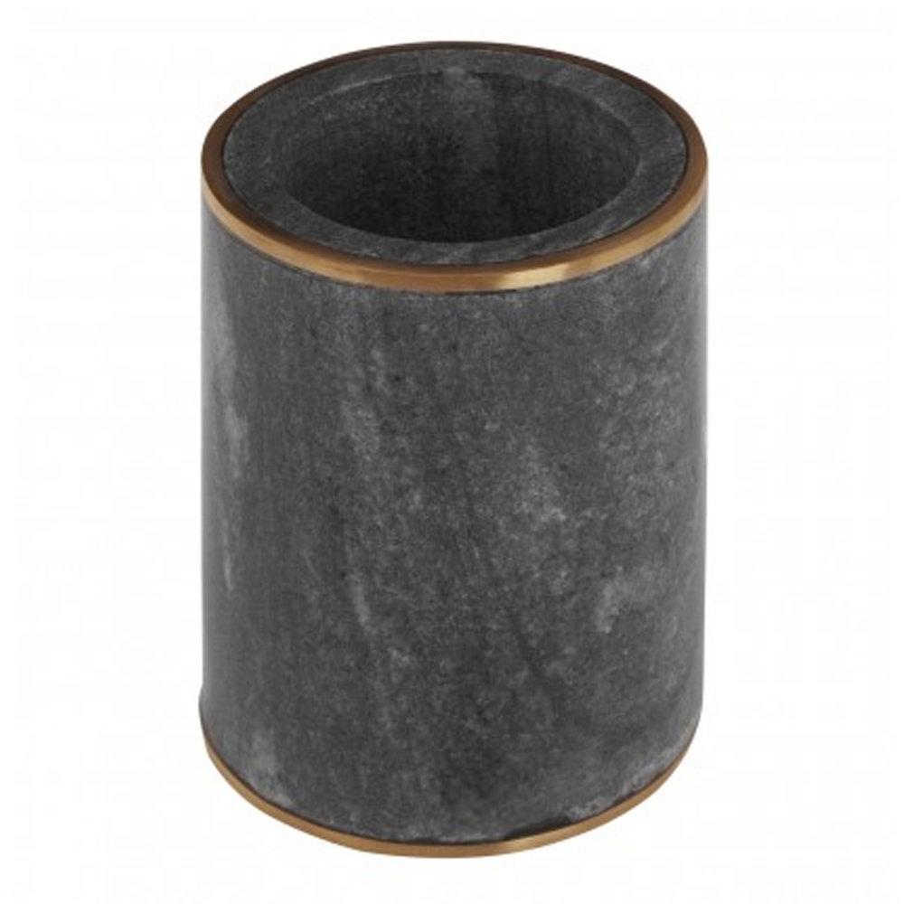 Turin Grey Marble Brass Effect Tumbler