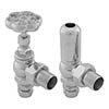 Gosport Traditional Angled Radiator Valves - Chrome profile small image view 1