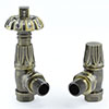 Traditional Gothic TRV Thermostatic Radiator Valve - Antique Brass profile small image view 1