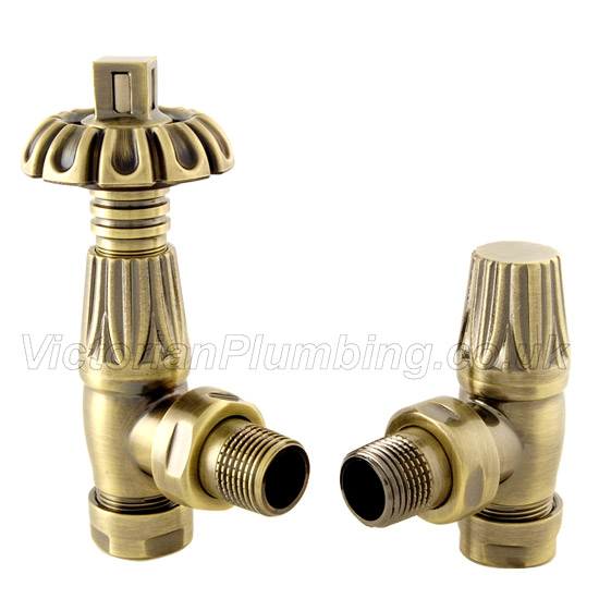 Traditional Gothic TRV Thermostatic Radiator Valve profile large image view 1
