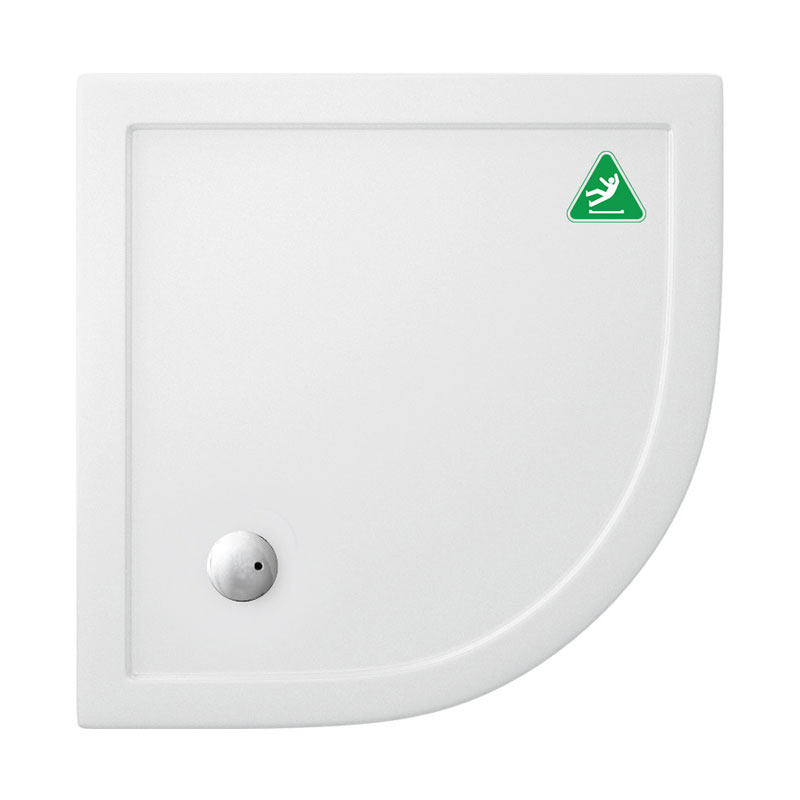 Simpsons Anti-Slip Quadrant 35mm Acrylic Shower Tray with Waste - Various Size Options Large Image