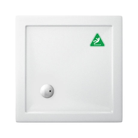Simpsons Anti-Slip Square 35mm Acrylic Shower Tray - Various Size Options
