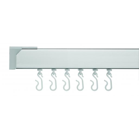 Croydex Professional Profile 400 Standard Shower Curtain Rail L-Shaped - Silver - GP81700