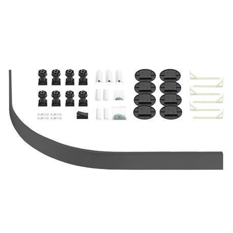 Leg + Panel Riser Kit for Graphite Slate Quadrant + Offset Quadrant Trays