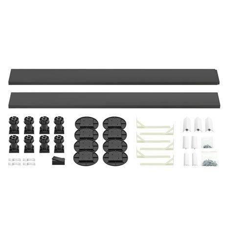 Leg + Panel Riser Kit for Graphite Slate Square + Rectangular Trays (up to 1200mm)