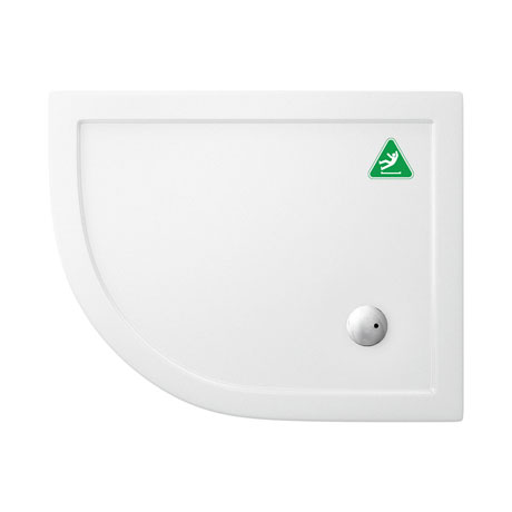 Simpsons Anti-Slip Offset Quadrant 35mm Acrylic Shower Tray with Waste - Left Hand - Various Size Options