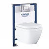 Grohe Rapid SL 0.82m Frame / Euro Rimless Complete WC 5 in 1 Pack profile small image view 1