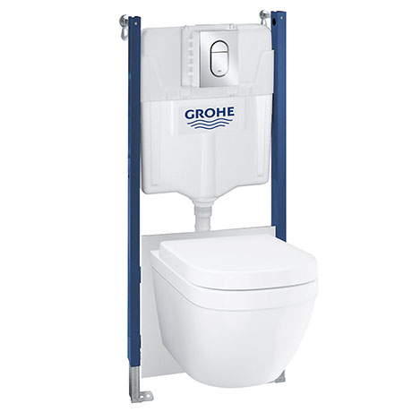 Grohe Solido Euro / Small Plate Complete WC 5 in 1 Pack
