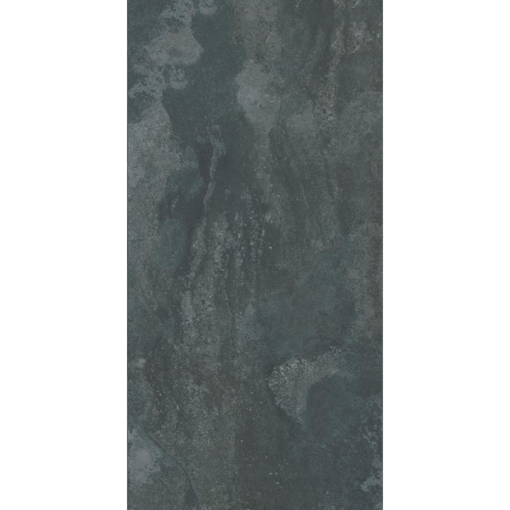 Grado Anthracite Tile (Matt Textured - 600 x 300mm) In Bathroom Large Image